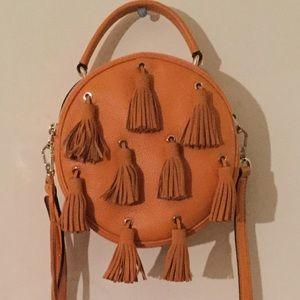 New leather Rebecca Minkoff crossbody w/ tassels